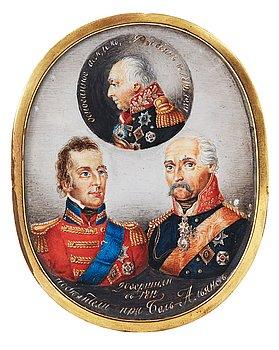 101. Field Marshal M. I. Kutuzov, Prussian Field Marshal G. Blucher and British Field Marshal A. Wellington.
