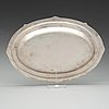 A fabergé silver serving-dish, moscow 1908-1917.