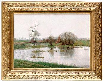 2. JULIA BECK, Flodlandskap från Moncourt.