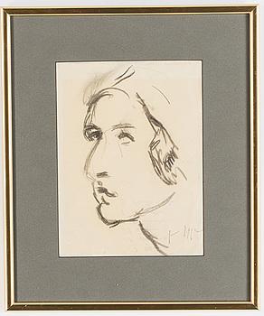 JEAN EGGER, teckning på papper, signerad.