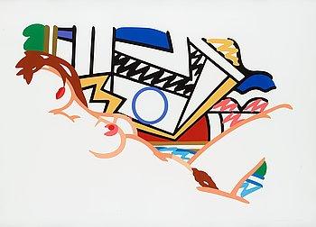 """181. Tom Wesselmann, """"Monica nude with Lichtenstein""""."""