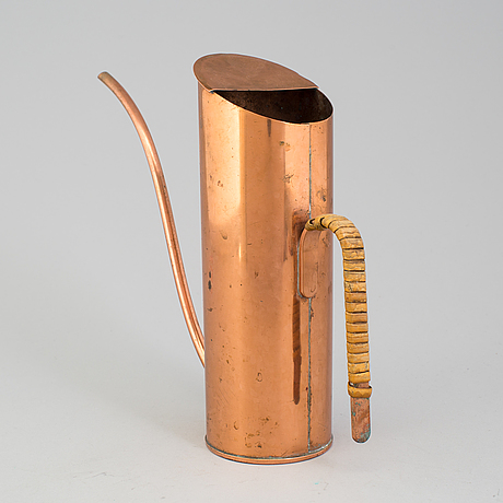 Gunnar ander, vattenkanna, koppar, ystad metall, 1900-talets mitt.