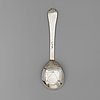 A noweigian 18th century silver spoon, unidentified makers mark, possibly bergen.