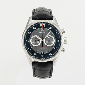 TAG HEUER, Carrera, Calibre 36, Flyback, chronograph, wristwatch, 44 mm,