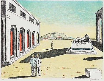 "374. GIORGIO DE CHIRICO, ""Ricordo d'autunno""."