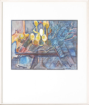 DENICE ZETTERQVIST, akvarell, signerad och daterad 1981.