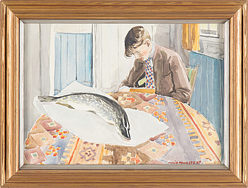 ARVID FOUGSTEDT, akvarell, signerad.