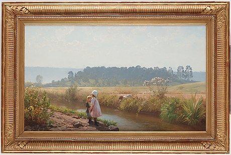 August malmström, august malmström, oil on canvas, signed a malmström.