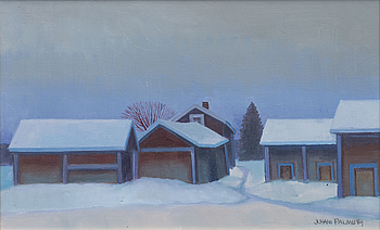 JUHANI PALMU, Oil on canvas, signed and dated -84.
