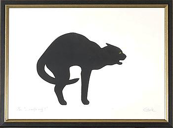 JONAS GLOCK, litografi, signerad och numrerad 5/20.