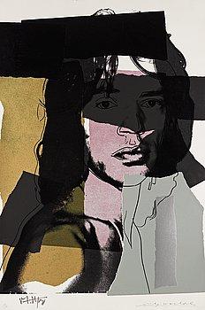 """177. Andy Warhol, """"Mick Jagger""""."""