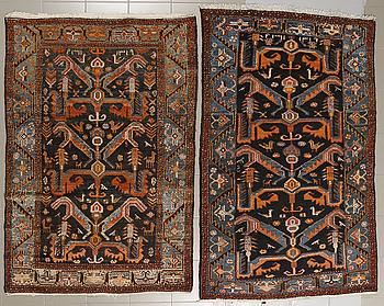 MATTOR, ett par snarlika, Zanjan, semiantika, 193-198 x 130-133 cm.