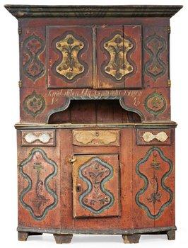 776. A Norwegian cupboard dated 1845.