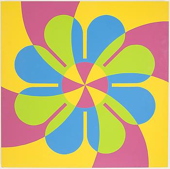 """JIM ISERMANN, """"Flower painting"""", signerad och daterad a tergo 1985."""