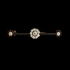 Brosch, gammalslipade diamanter, 14k (56) guld. st petersburg