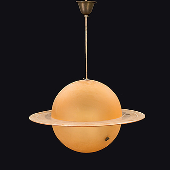 A CEILING LAMP BY EDWARD HALD FOR ORREFORS, 1930.