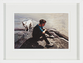 A Karin Broos gliclée print signed and numbered 28/90.