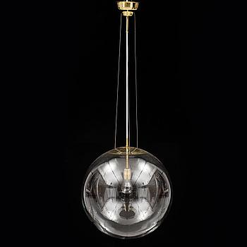 TAKLAMPA, 1900-talets andra hälft. Totalhöjd ca 45 +135 cm.