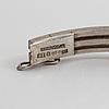 A rock crystal bracelet by heribert engelbert, stockholm, 1942.