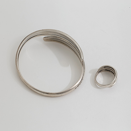 A ring and a bracelet by david andersen, norway