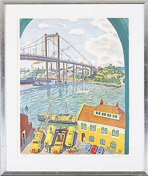 MONA HUSS WALLIN, färglitografi, signerad, numrerad 438/460 och daterad -77.