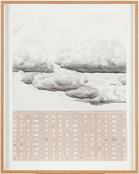 PATRIK NILSSON, pencil, charcoal and pastel on paper, signed and dated 2007 on verso .