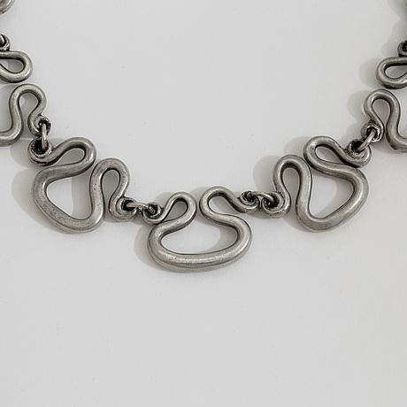 """A 1940 50s pewter """"the etrucian necklace"""" design estrid ericson for svenskt tenn, stockholm"""