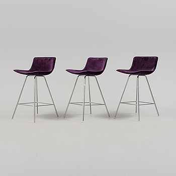 "GUNILLA ALLARD, A set of three bar stools ""Comet Sport"", Lammhults."