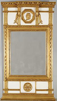 SPEGEL, sengustaviansk, omkring sekelskiftet 1800.