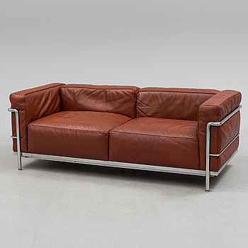 LE CORBUSIER, LE CORBUSIER, an 'LC3' leather upholstered sofa from Cassina.