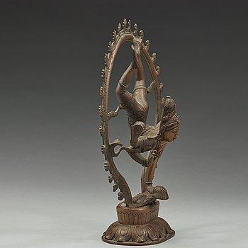 SKULPTUR, brons. Indien, 1900-tal.