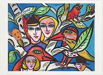 ULRICA HYDMAN-VALLIEN, färglitografi, signerad o numrerad 938/1600.