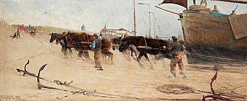 """358. NILS KREUGER, """"Från Holländska kusten"""" (From the Dutch Coast)."""