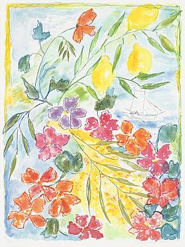 LENA LINDERHOLM, färglitografi, signerad och numrerad 81/190.