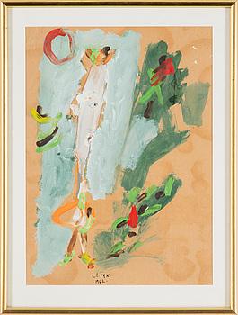 MADELEINE PYK, gouache, signerad och daterad 1962.