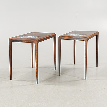 A pair of 1960/70s sidetables by Johannes Andersson, CFC Silkeborg.