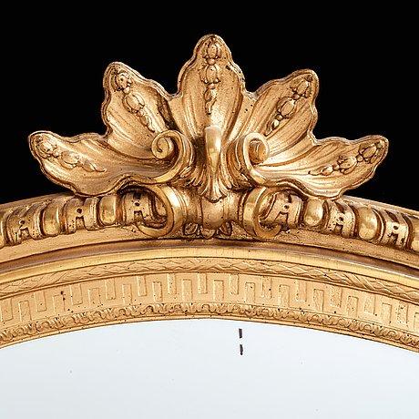 Gustavian 1770's two light girandol mirror