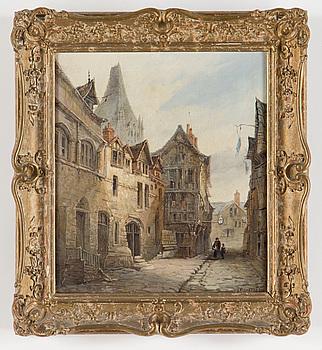 OKÄND KONSTNÄR, 2 st, oljor på duk, signerade W G Richards, 1800-tal.