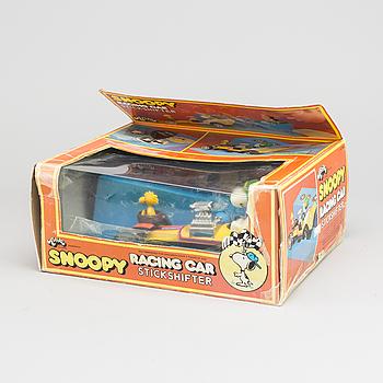 """LEKSAKSBIL, """"Snoopy racing car"""", Aviva, 1970-tal,"""