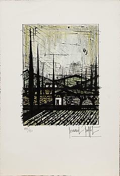 BERNARD BUFFET, färglitografi, signerad och numrerad 139/150.