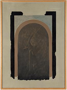 LOUIS CANE, akvarell och gouache, signerad och daterad 1977.
