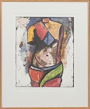 JIM DINE, färgoffset, signerad och numrerad 2/400, daterad 1985.