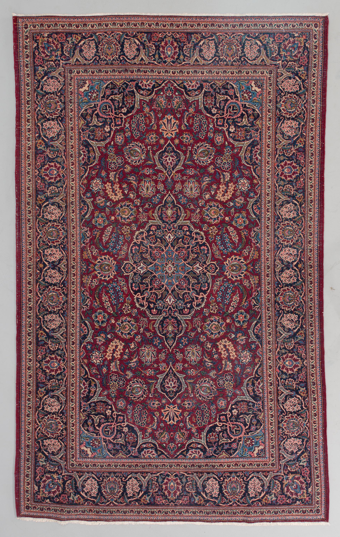 A Semiantique Keshan Carpet 131x216 Cm Bukowskis