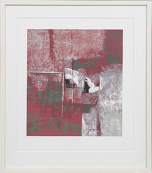 ANDERS ÖSTERLIN, färglitografi, signerad och numrerad 3/28 cm.