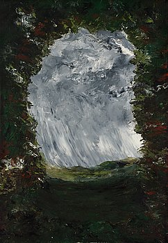 "403. August Strindberg, ""Inferno"" (""The Inferno-painting"") oil on canvas 100 cm*70 cm, signed and dated 1901."