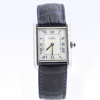 must de CARTIER, Tank Quartz, wristwatch, 23,5 x 23 (31) mm.