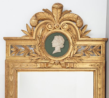 A pair of gustavian 1780's mirrors attributed to  pehr ljung (1743 1819)