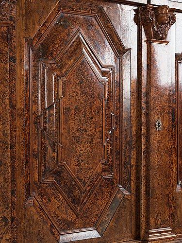 A swedish 18th century baroque cupboard