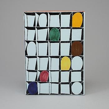 "STIG LINDBERG, ""Karneval"", fajans, Gustavsberg studio 1958-1962."