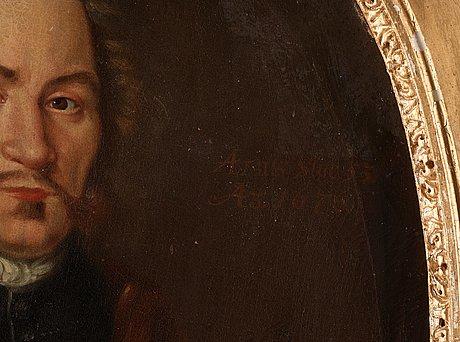 Martin mijtens d.ä circle of, gentlemen and lady portrait.